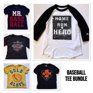 Other - Boys Baseball Tee Bundle